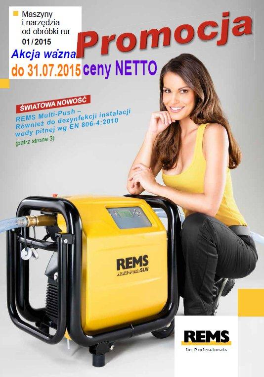 Gazetka promocyjna REMS - maszyny i narzedzia do obróbki rur